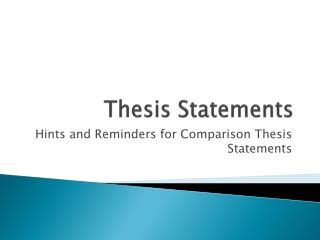 The Writing Process - Thesis Statements - Aims Community